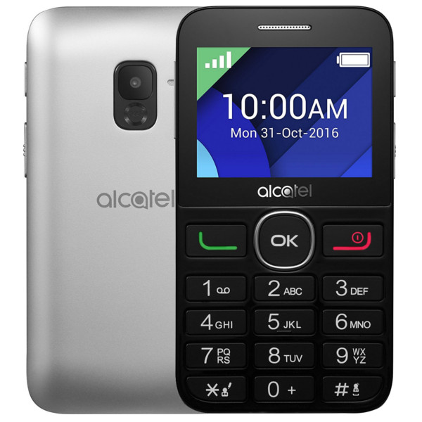 Verwonderlijk Alcatel 2008G Black and Silver (4894461397016) | Movertix Mobile CD-17