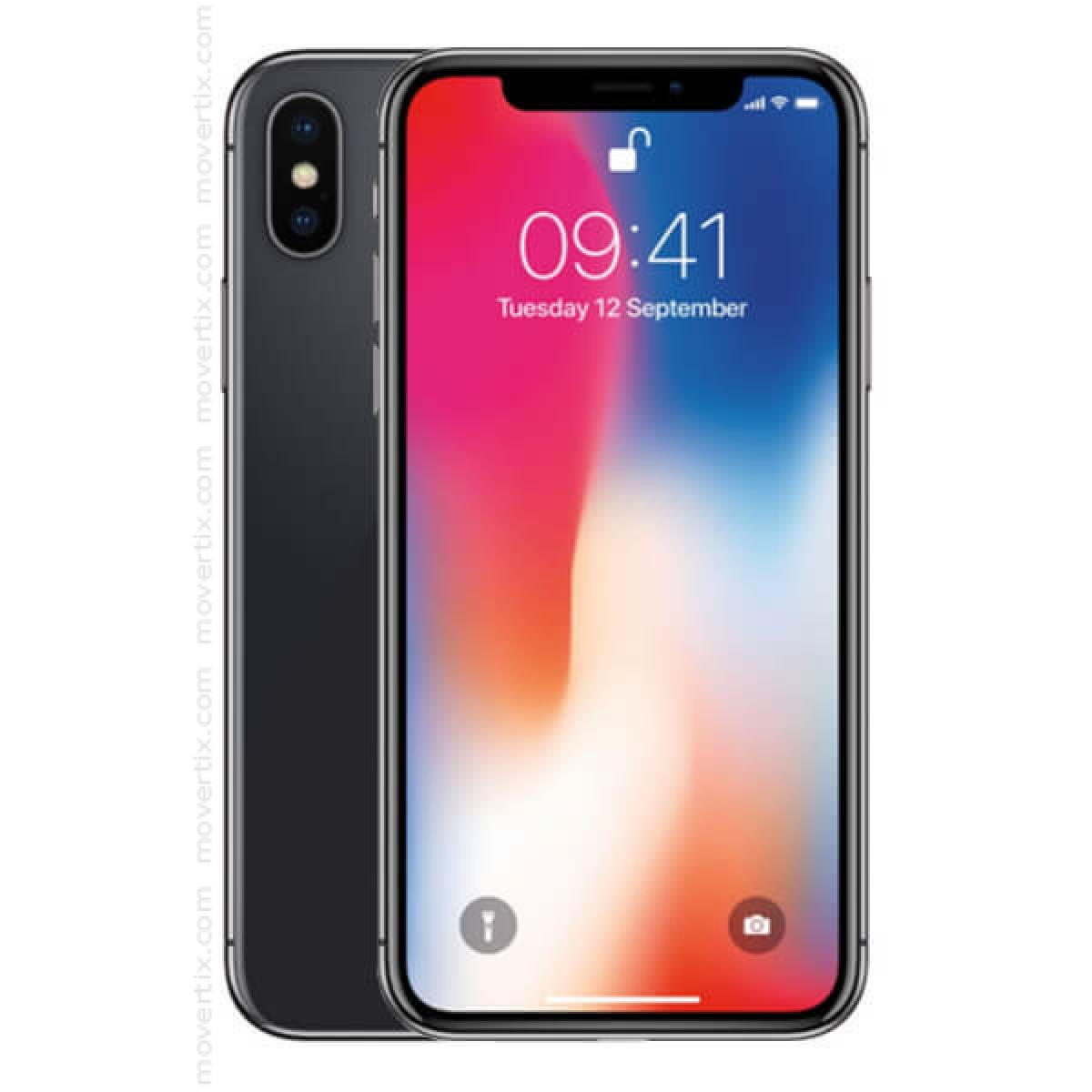 36148d5aec02 The iPhone X in space grey color with 64GB of storage comes with a new  full-screen design. Face ID, which detects your face as a password.