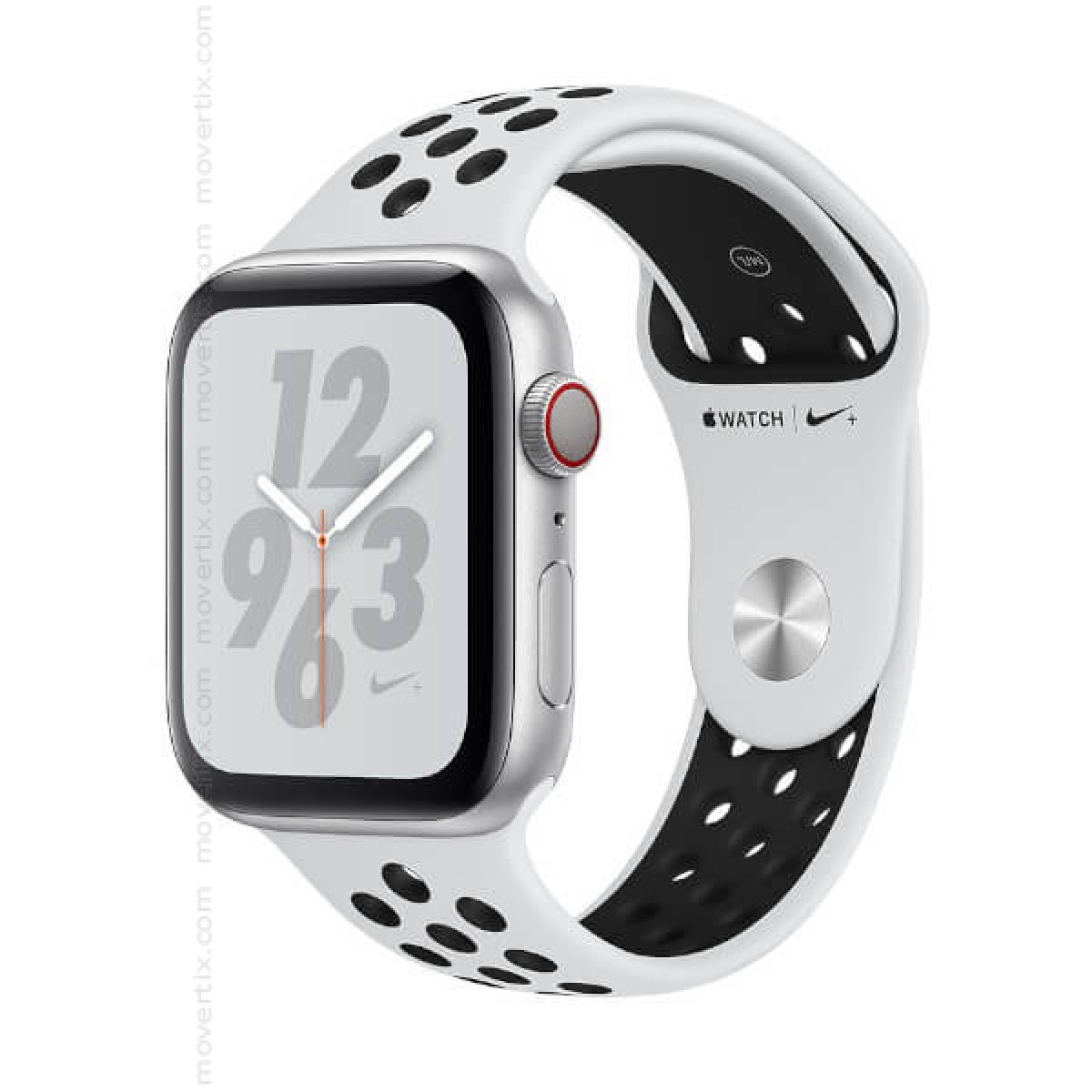 Apple Watch Nike+ Series 4 (GPS+Cellular) 40mm Silber mit Nike Sportarmband  Pure Platinum (MTX62TY/A)
