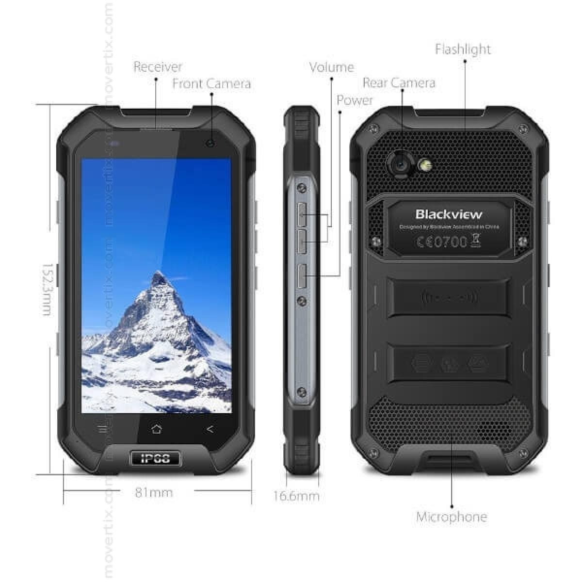 half off 87938 c778f Blackview BV6000s Dual SIM Black 16GB and 2GB RAM