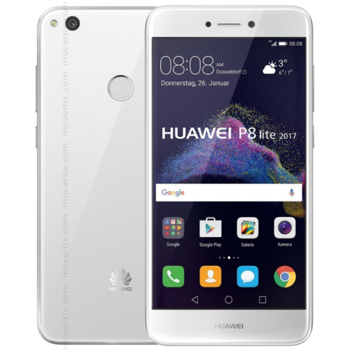 huawei p8 lite white 2017 6901443158034 movertix mobile phones shop. Black Bedroom Furniture Sets. Home Design Ideas