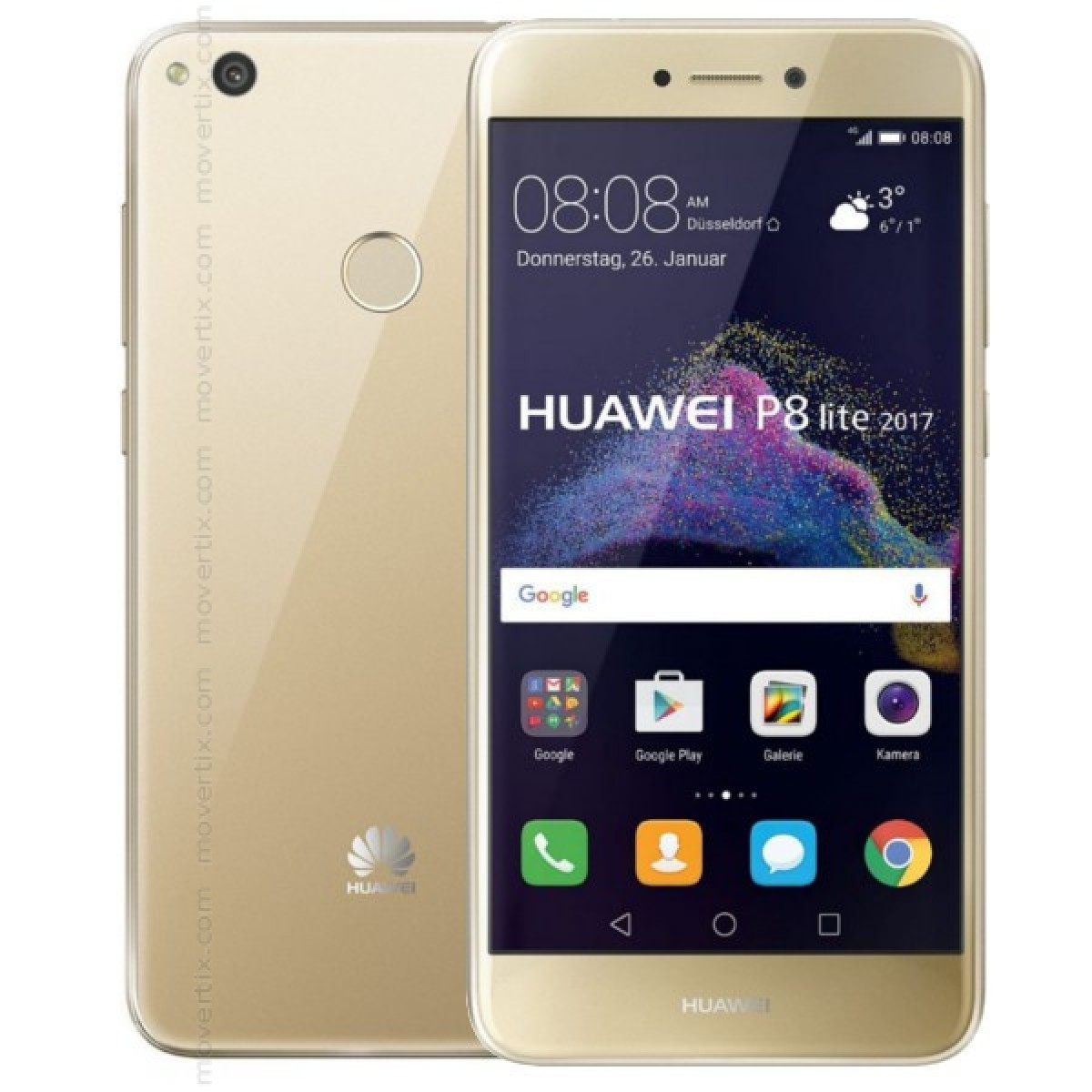 huawei p8 lite dual sim gold 2017 6901443158126 movertix mobile phones shop. Black Bedroom Furniture Sets. Home Design Ideas