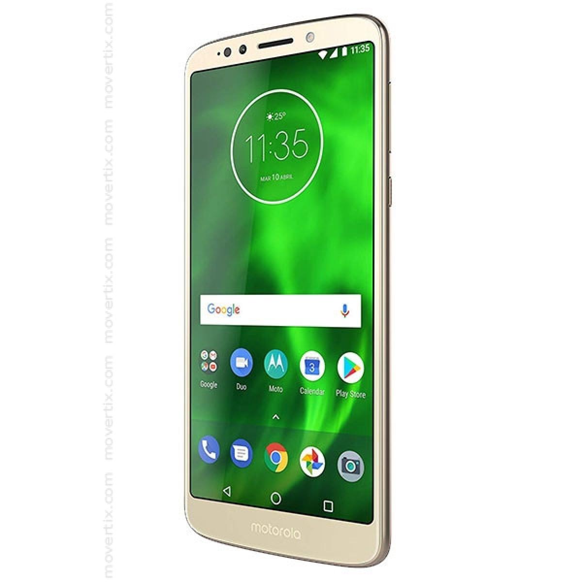 70a38809926 El Motorola Moto G6 Play Dual SIM de color Oro es un smartphone imparable.  Disfruta más de lo que te gusta con hasta 32 horas de batería.