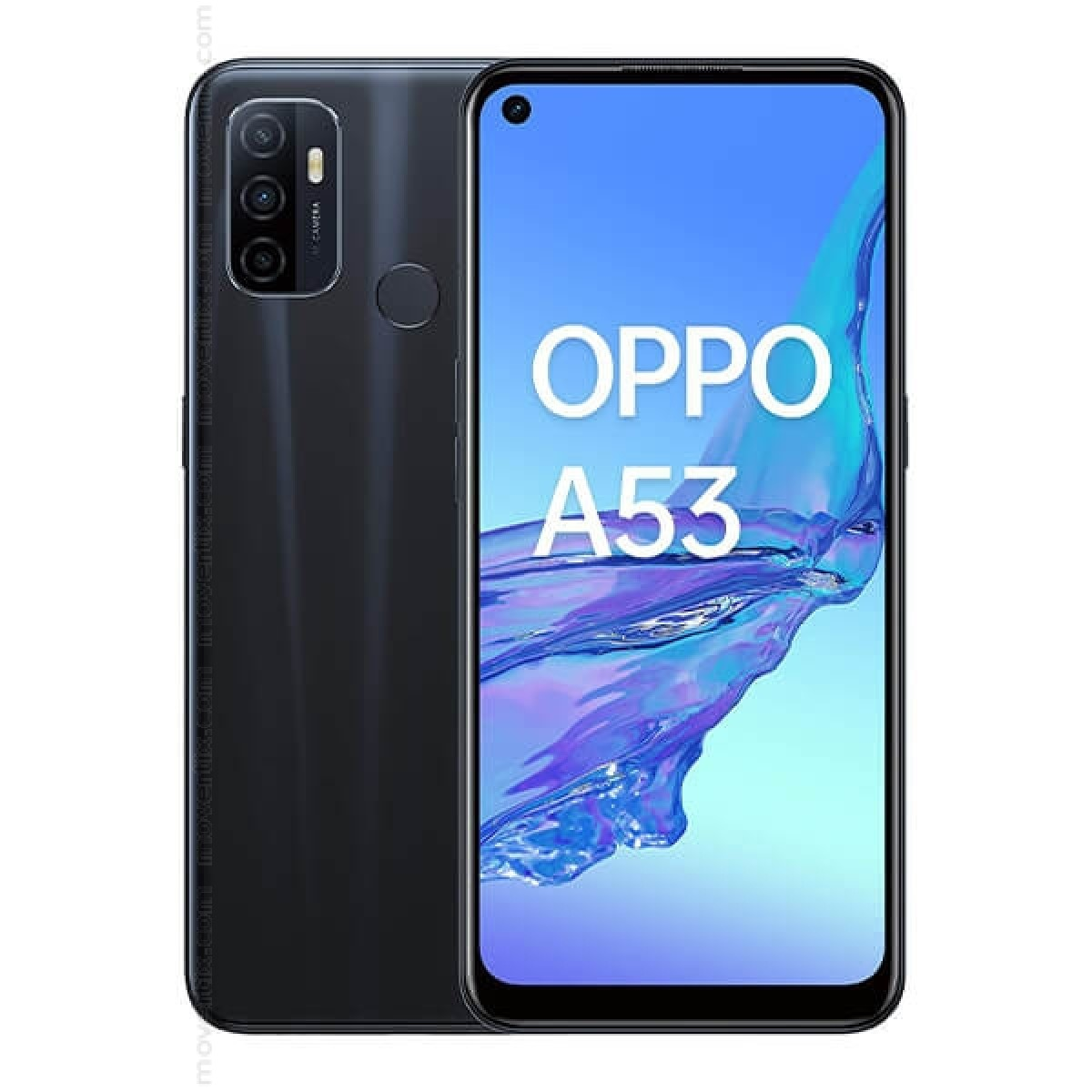 Oppo A53 Dual SIM Electric Black 64GB and 4GB RAM (6944284671102)    Movertix Mobile Phones Shop