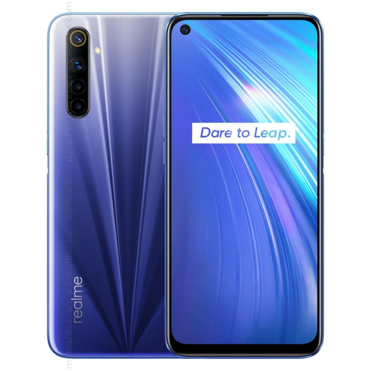 هاتف ذكي ريلم 6 - شاشة 6.5 انش، اندرويد 10، 128 جيجا، 8 جيجا، ازرق