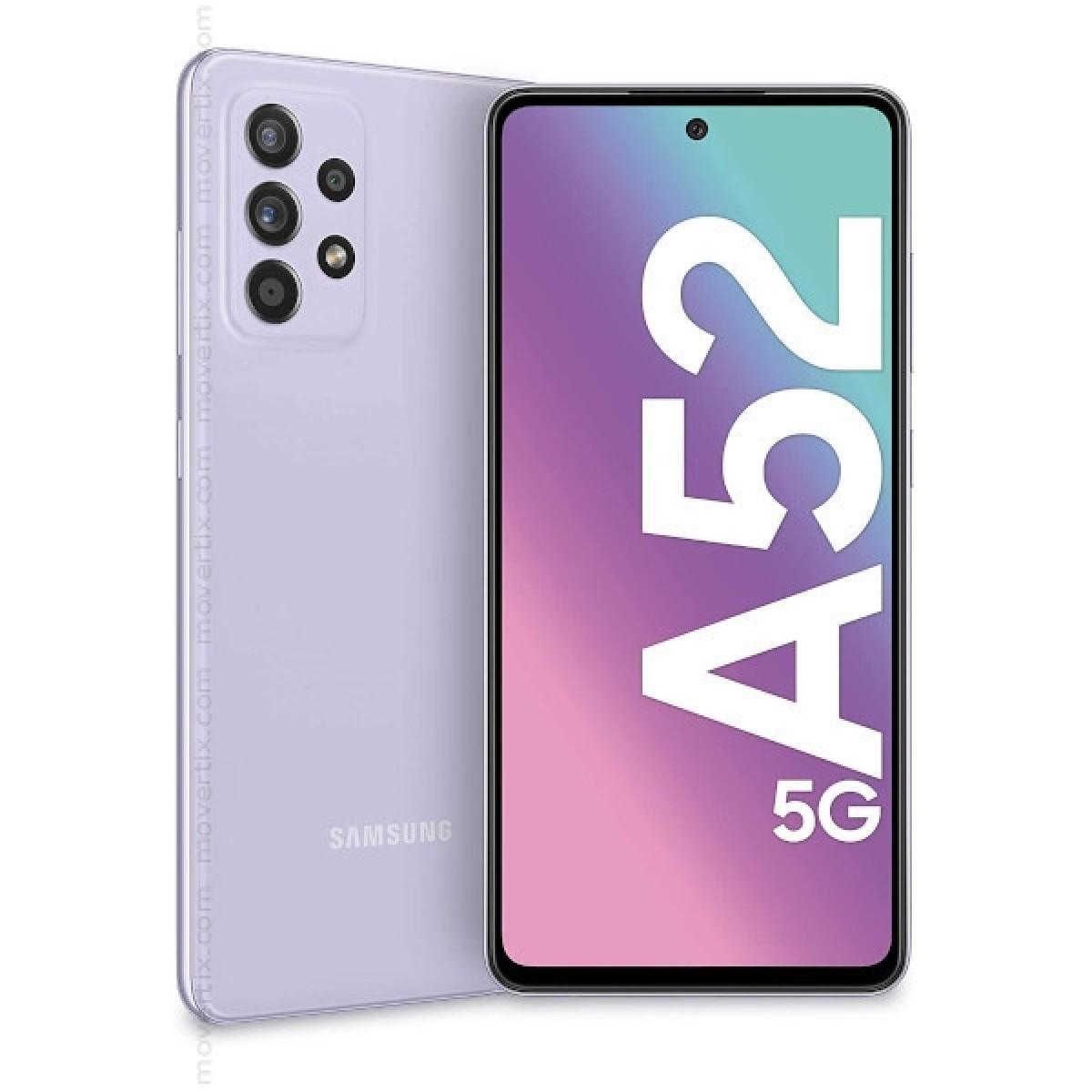 Samsung Galaxy A52 5G Dual SIM in Violett mit 128GB und 6GB RAM -  SM-A526B/DS (8806092087866)
