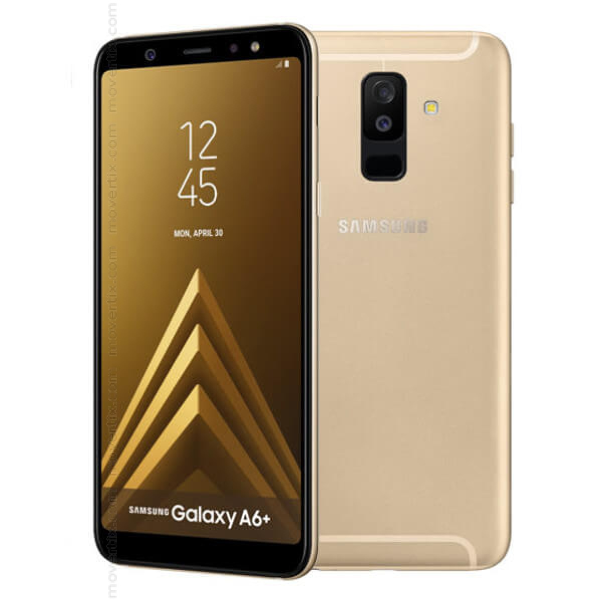 samsung galaxy a6 plus 2018 gold 32gb and 3gb ram 8801643340148 movertix mobile phones shop. Black Bedroom Furniture Sets. Home Design Ideas