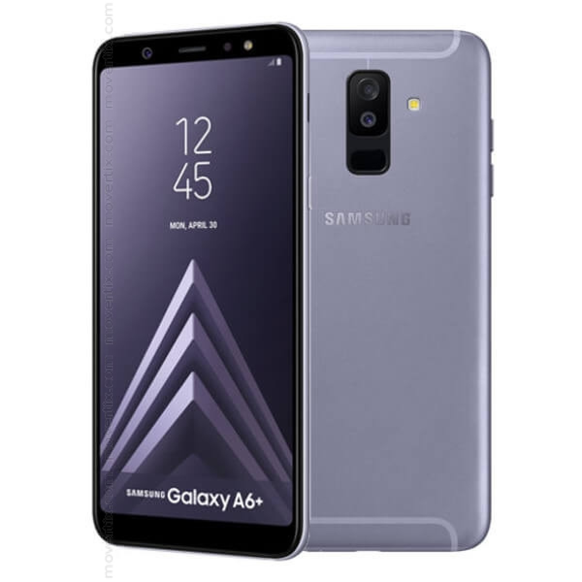 samsung galaxy a6 plus 2018 dual sim in lila mit 32gb und 3gb ram 8801643330118 movertix. Black Bedroom Furniture Sets. Home Design Ideas