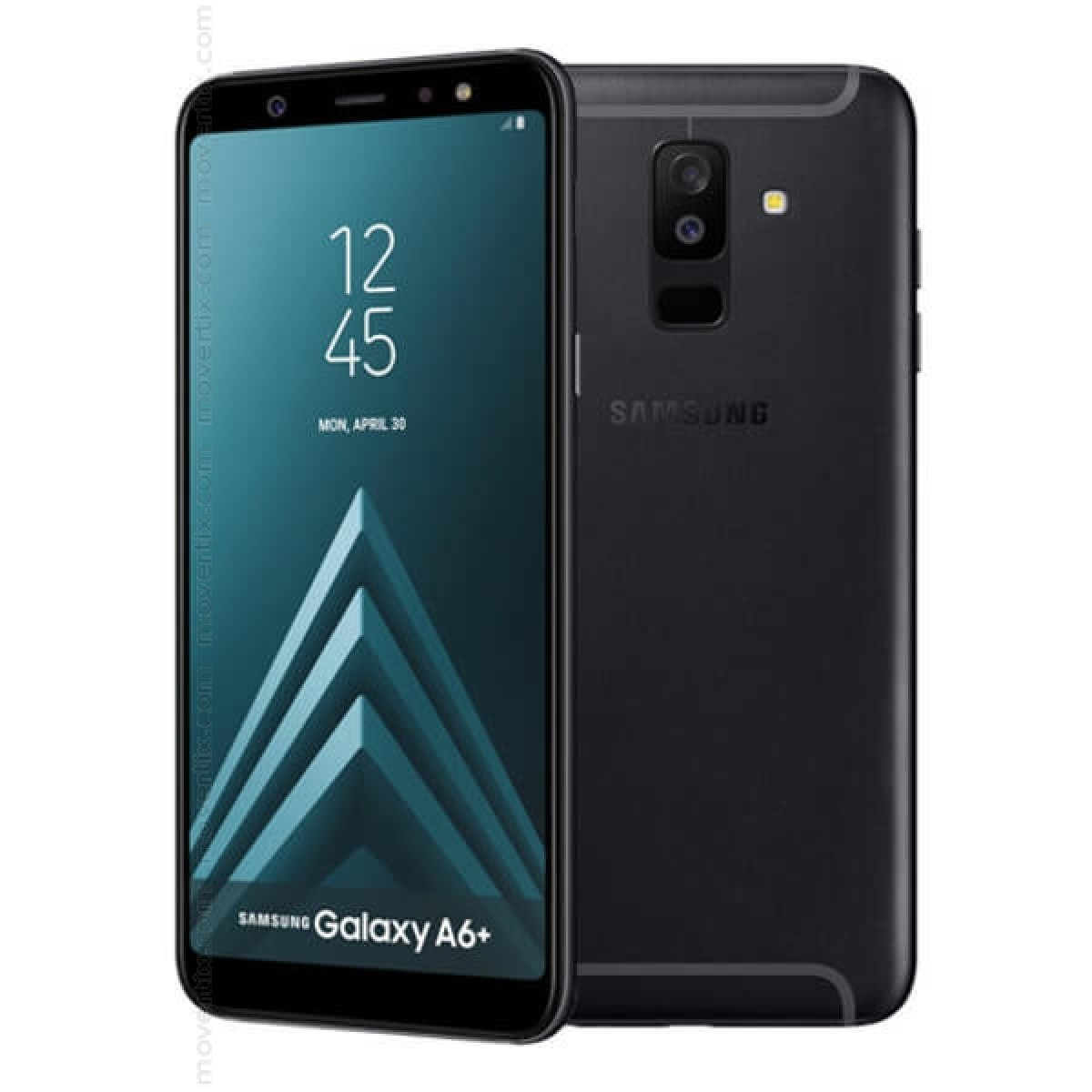 56066c6e87d The Samsung Galaxy A6 Plus (2018) Dual SIM in black color is a mid-range  smartphone with top features like the 6-inch screen without frames