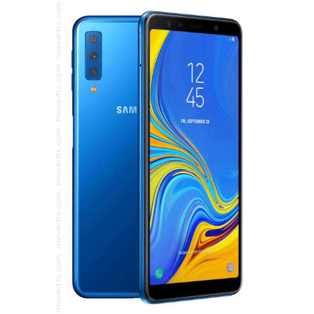 samsung galaxy a7 2018 dual sim in blau sm a750f ds. Black Bedroom Furniture Sets. Home Design Ideas