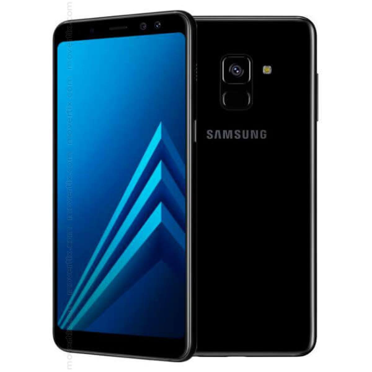 samsung galaxy a8 2018 dual sim black 32gb sm a530 8850007057376 movertix mobile phones shop. Black Bedroom Furniture Sets. Home Design Ideas