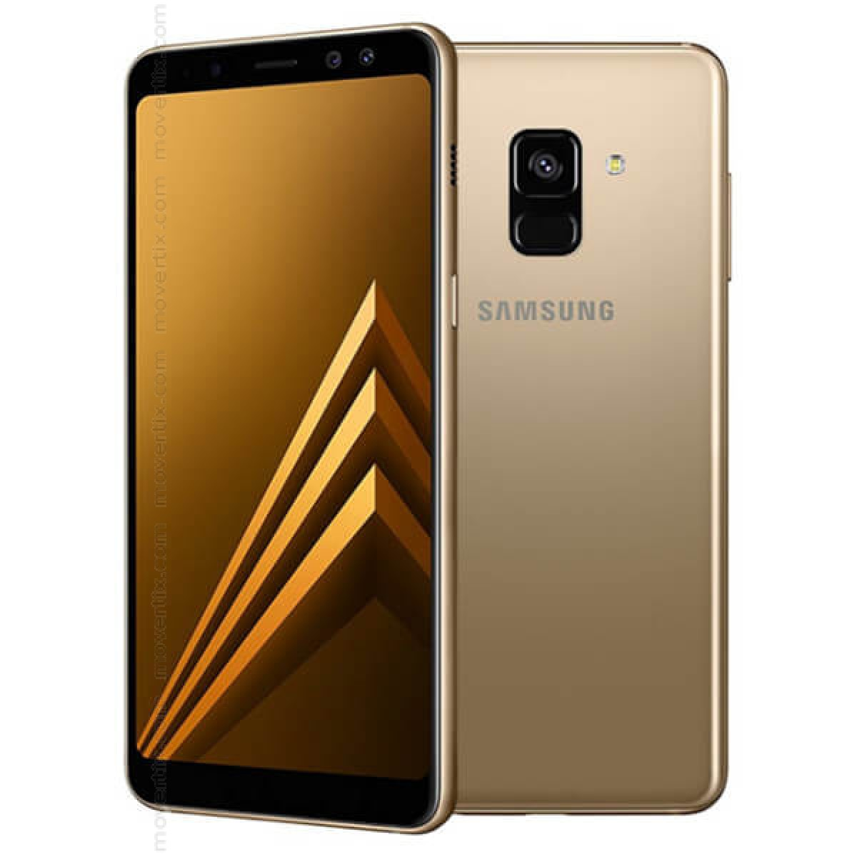 2a839c92dec5e2 With the Samsung Galaxy A8 (2018) Dual SIM in gold color, Samsung s  mid-range goes one step further. With a 5.6-inch Super AMOLED display, 16MP  cameras, ...