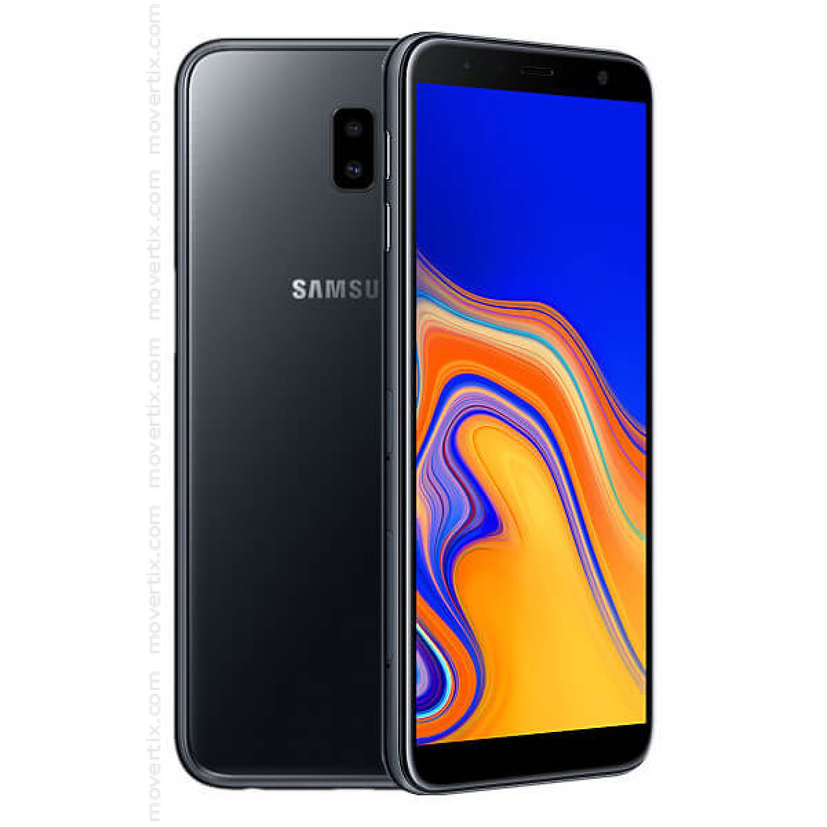 77a94cd4a The Samsung Galaxy J6 Plus (2018) in black color is a Dual SIM smartphone  with a 6-inch screen