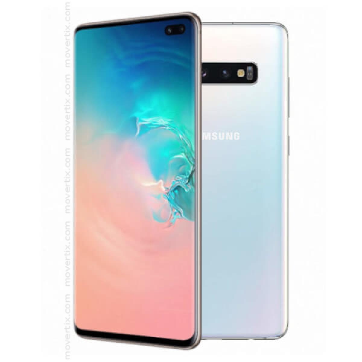 8bf4640b98c Samsung Galaxy S10 Plus Dual SIM Prism White 128GB and 8GB RAM - SM ...