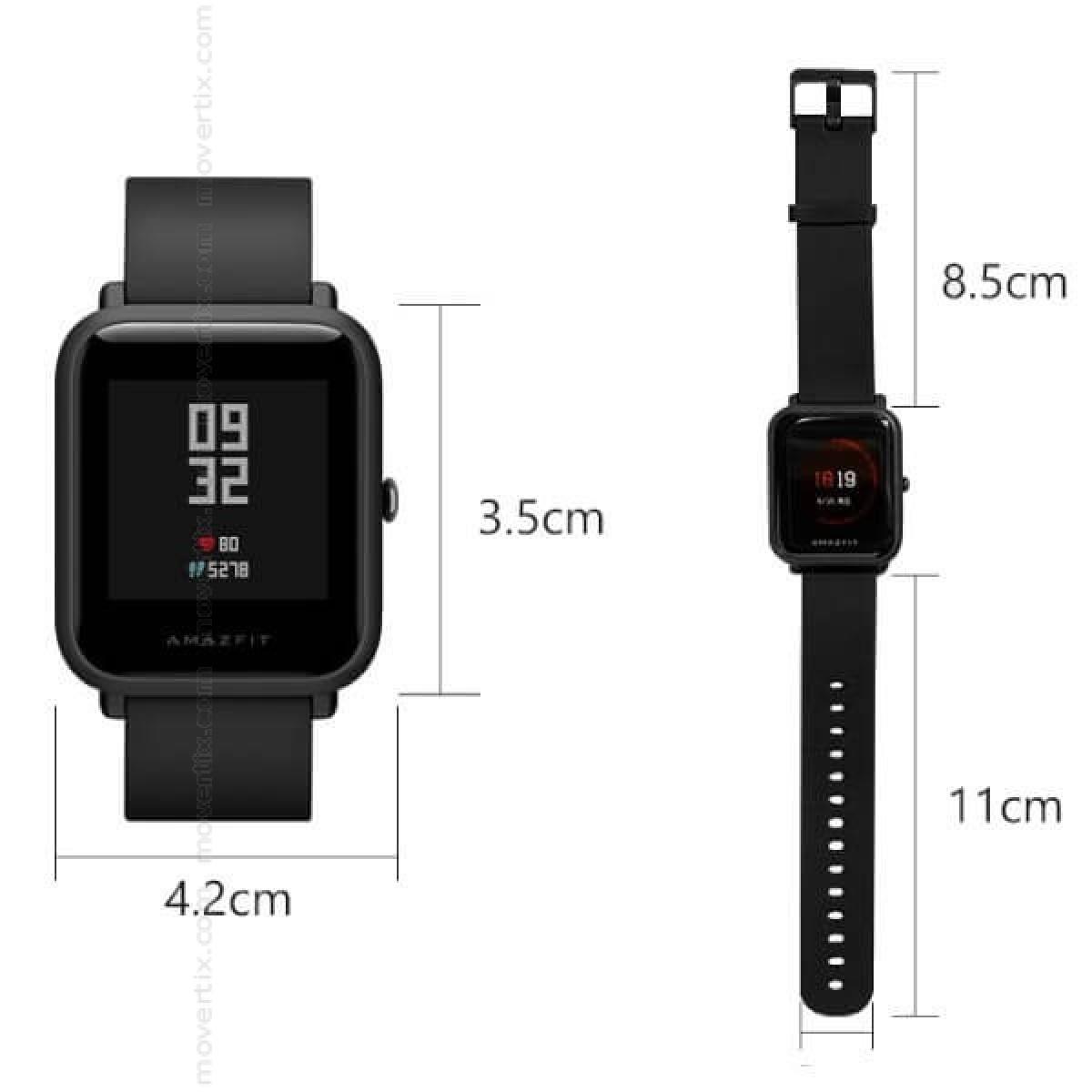 6bae7ffda687 El Xiaomi Amazfit Bip de color negro es un reloj inteligente completo con  GPS