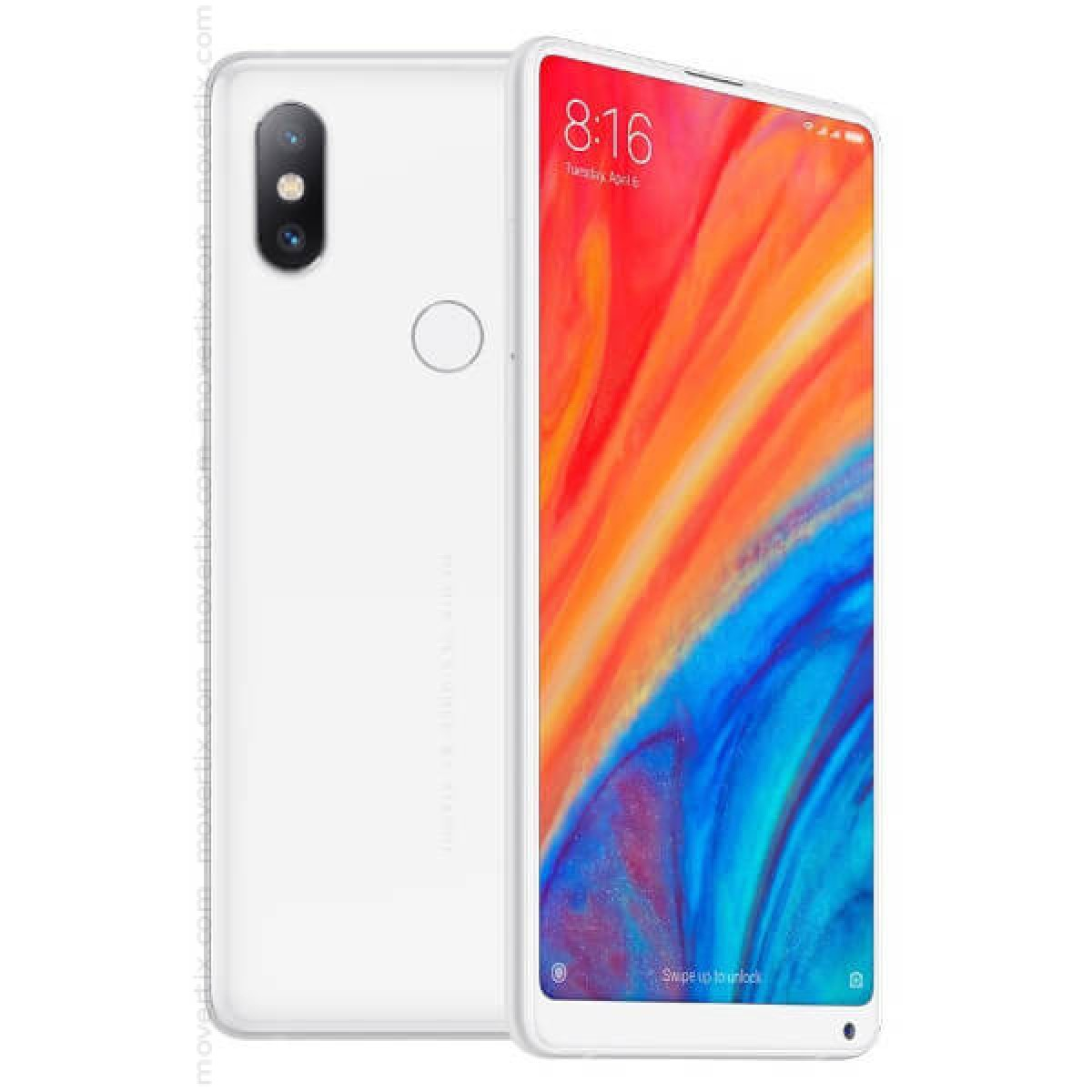 5c7f3da8488 The Xiaomi Mi Mix 2S in white color has an exclusive curved ceramic design  and all screen