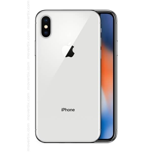 apple iphone x silver 256gb 0190198458711 movertix mobile phones shop. Black Bedroom Furniture Sets. Home Design Ideas