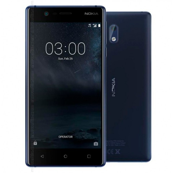 nokia 3 dual sim in blu 6438409002181 movertix telefoni cellulari al miglior prezzo. Black Bedroom Furniture Sets. Home Design Ideas